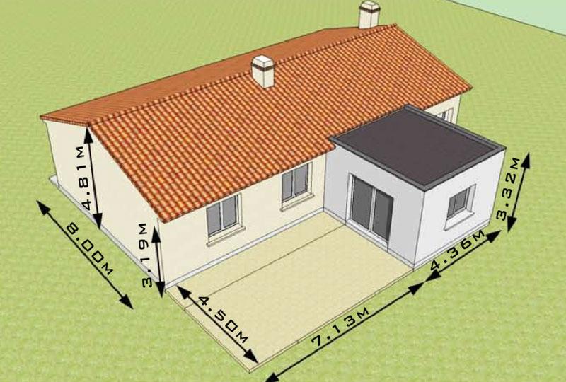 Notre Elodie 6 Maison Plain Pied Agrandissement